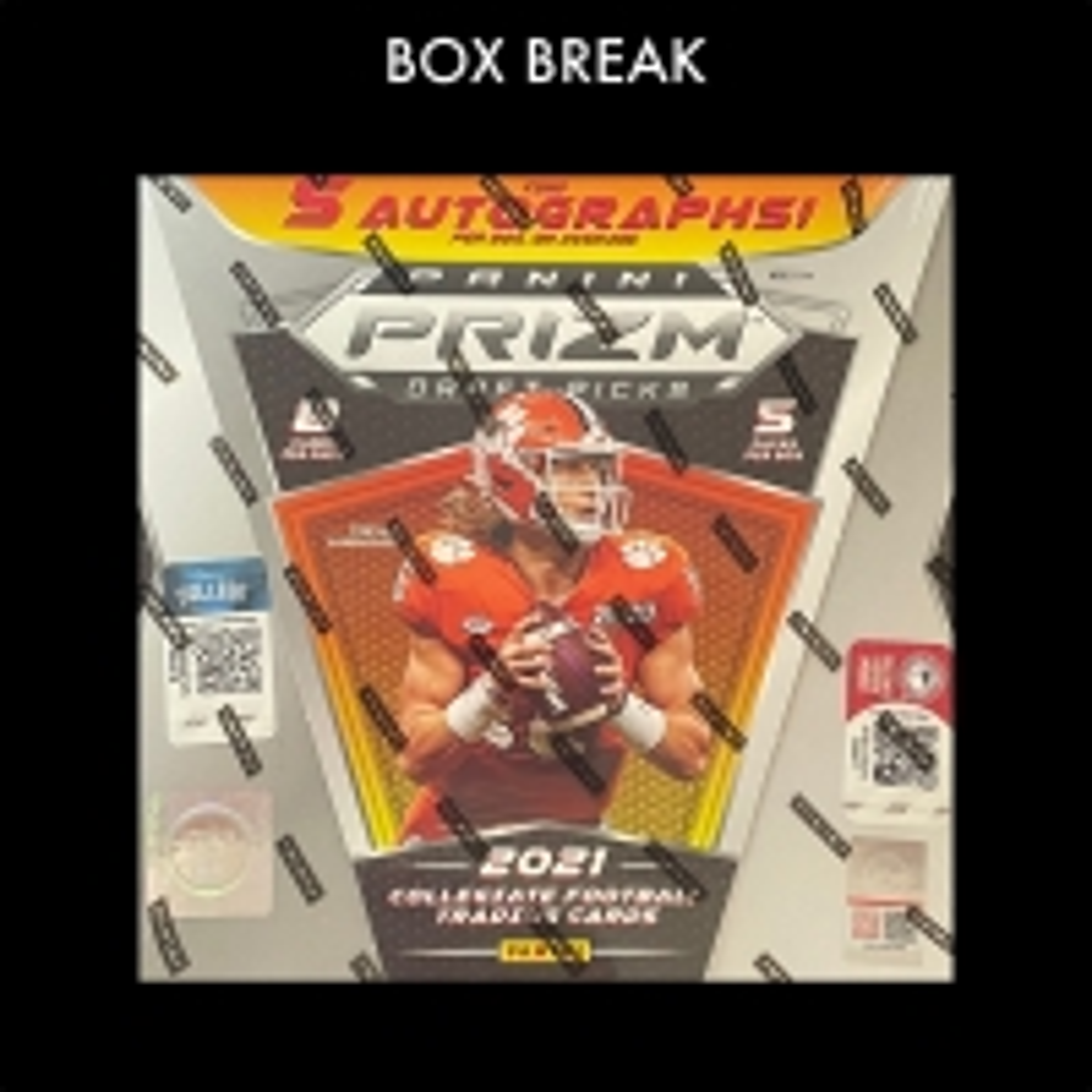 2021 PANINI PRIZM FOOTBALL DRAFT PICKS HOBBY BOX (5 PACKS AVAILABLE)